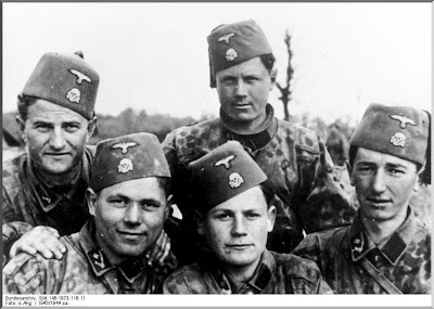 These are German soldiers (Nazis) just like the ones that stopped Annemarie, Ellen and Kirsti in the streets.