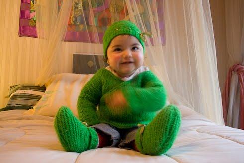 conjunto verde duende chaquetita gorro y zapatitos tallas 1 a 2 anos ...