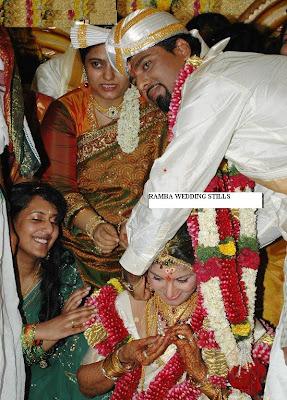 Actress Rambha wedding photo