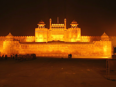 Red Fort - Delhi in Night