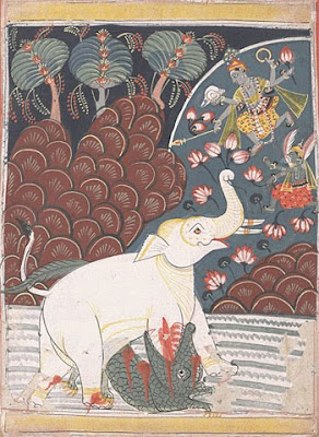 Gajendra Moksha paintings