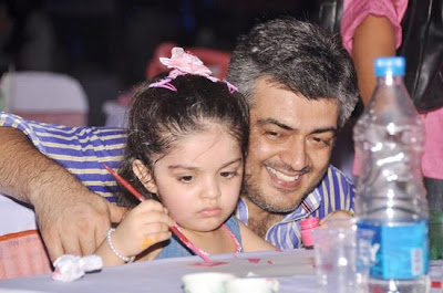 Ajith and his daughter stills