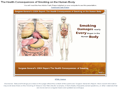 Back to Basics: Interactive Human Body Map of Smoking's Effects