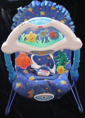 Aquarium fisher price bouncer swinger