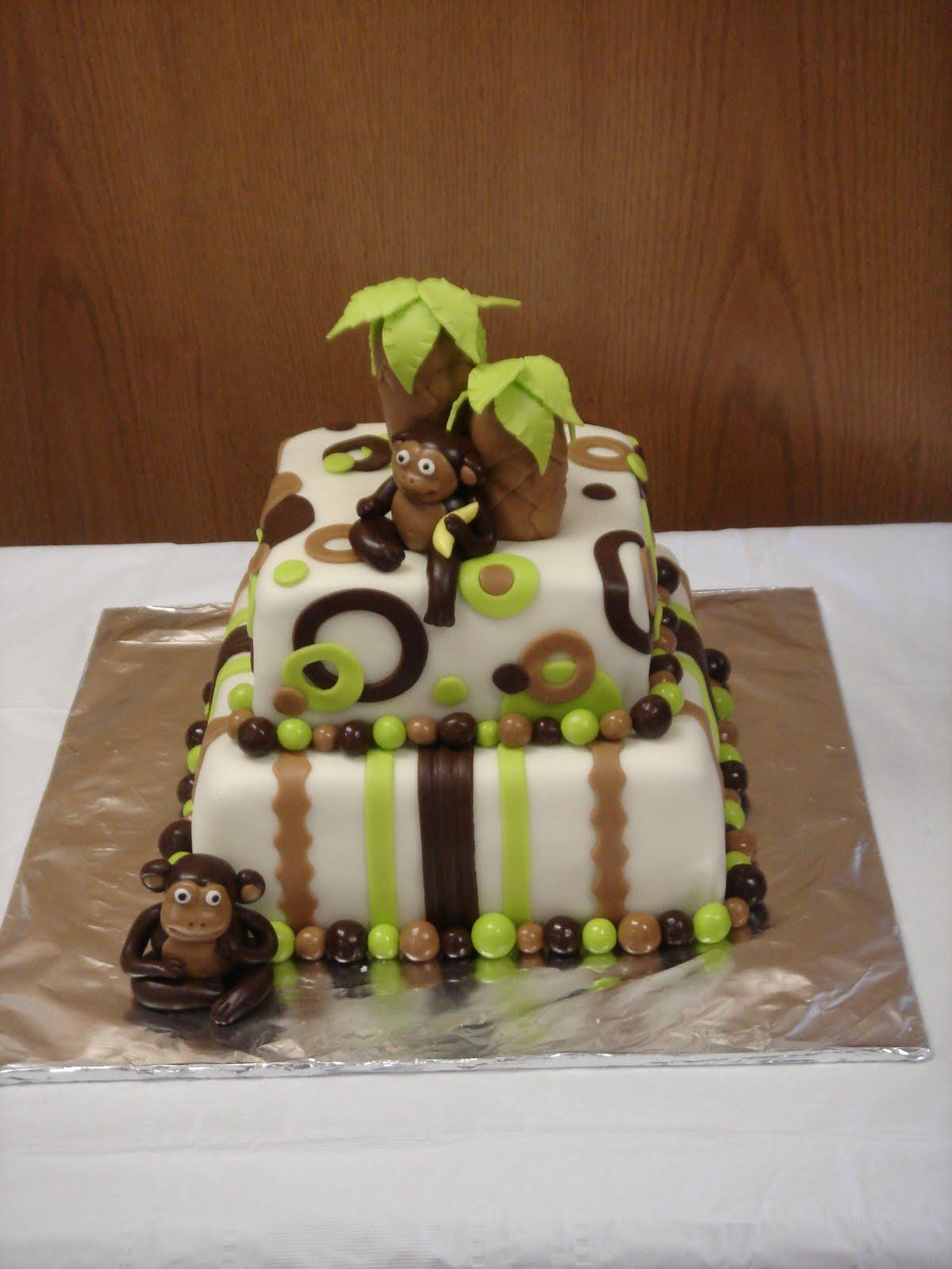 Monkey Cake Design Easy : Cakes by Sheree: Monkey Baby Shower Cake