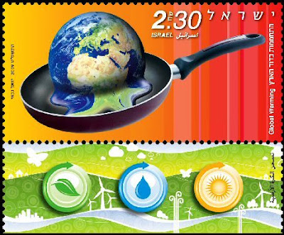 Best Stamp Design featuring Global warming