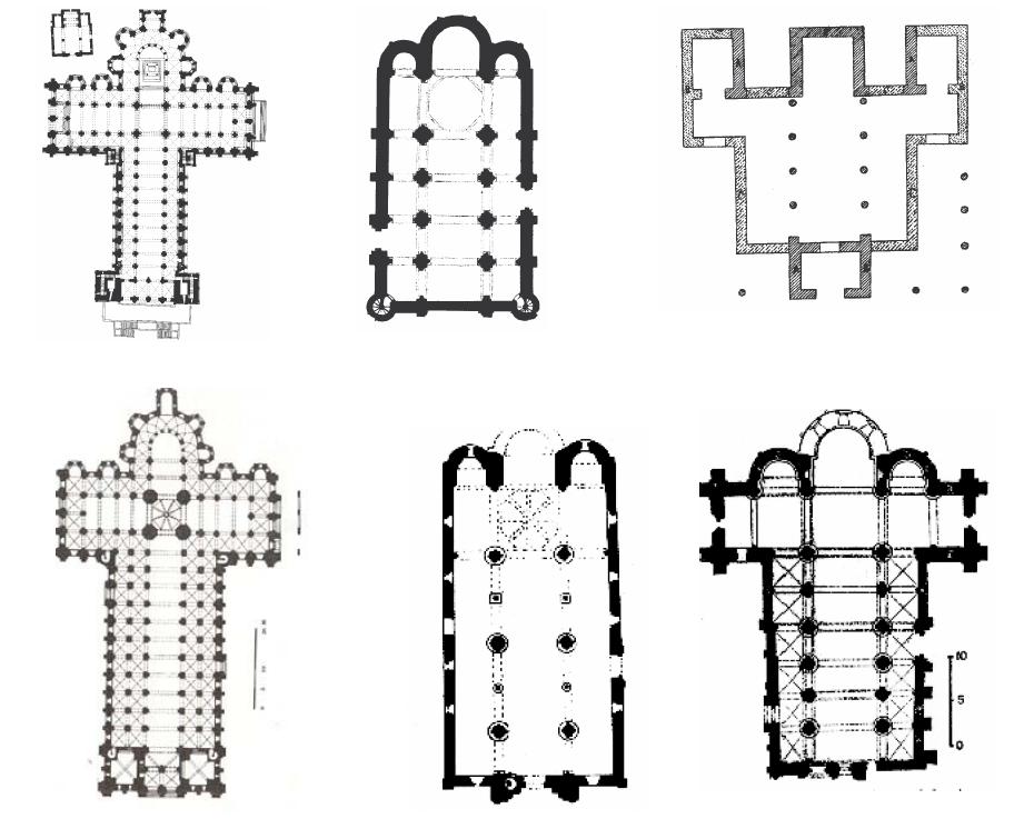 Clasificación de plantas de iglesias románicas