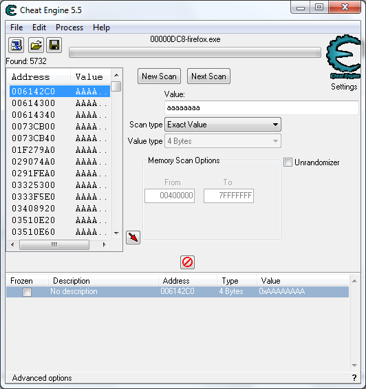 how to change value on cheat engine