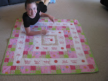 The fundraiser quilt Sierra made