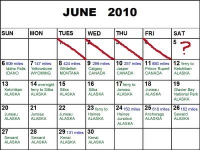 June Itinerary