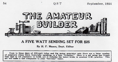 the amateur builder