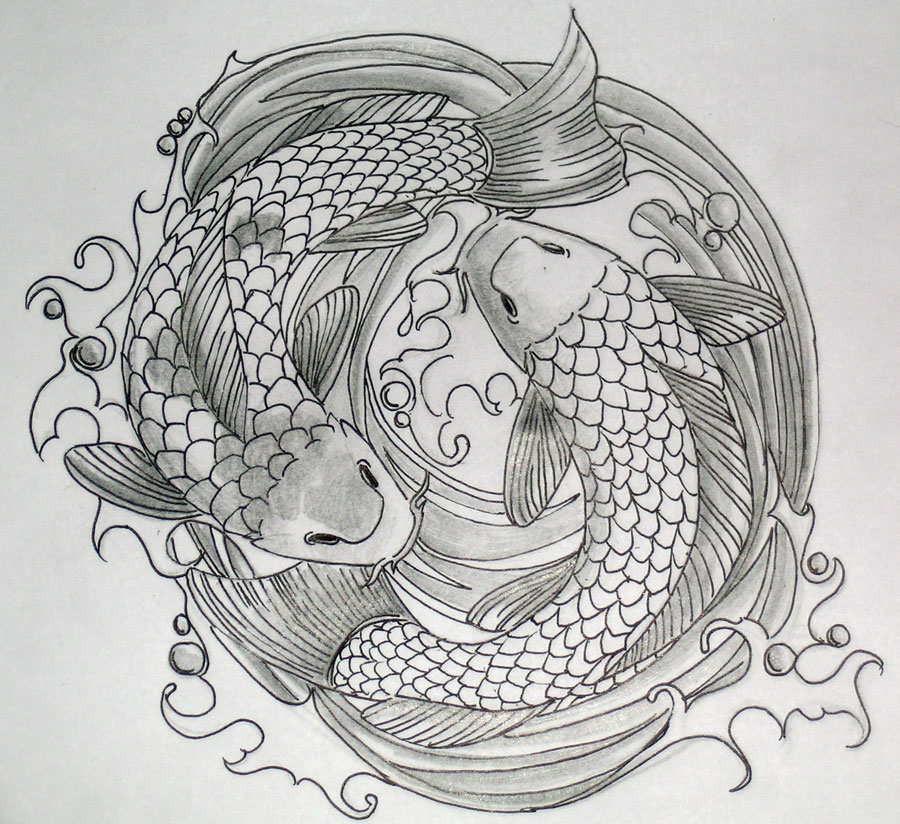 Koi Tattoo Design Coloured by BlueUndine Best Tattoo Designs With Pictures