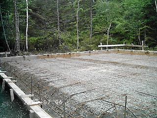 Island Log Home Slab On Grade Foundation