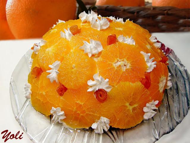 Торт купол с фруктами