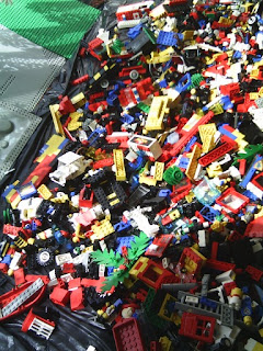 A photo of a lot of Lego