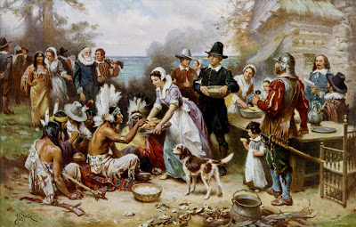 """The_First_Thanksgiving"" by Jean Leon                 Gerome Ferris (1863�1930)"