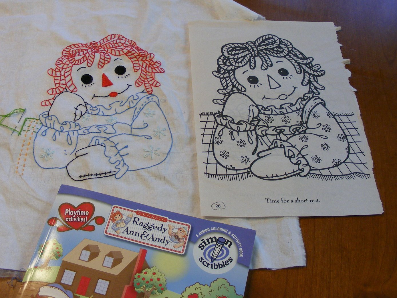 RAGGEDY ANN EMBROIDERY DESIGN