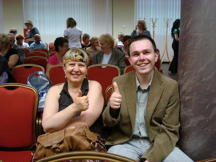 Na zdjęciu z moją wspaniałą Przyjaciółką Ciocią Renatką na imprezie w Hotelu Ruben w Zielonej Górze