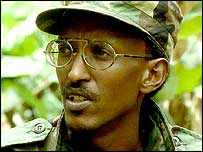Paying wages to Kagame's guerrilla fighters from Ugandan and British taxpayer's money.