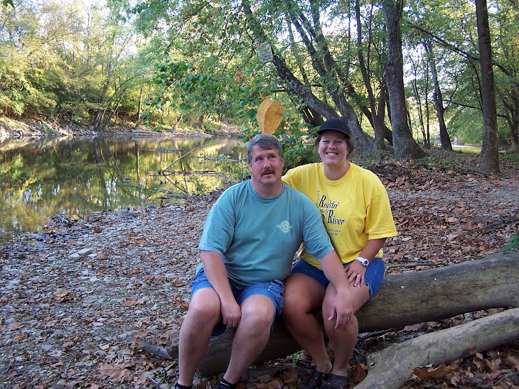 Carie & Alan at Morgan's Canoe Campgroup Fall 2008