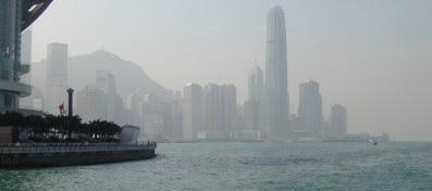 Skyline von Hongkong im Jahr 2006