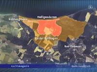 Satellitenbild von Heiligendamm mit eingezeichneter Bannmeile