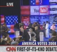 Screenshot: Debatte der US-Präsidentschaftskandidaten auf CNN mit Einbindung der Zuschauer via YouTube-Videos