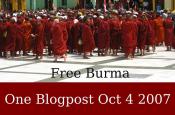 Bild zur Aktion 'Free Burma': Protestierende Mönche