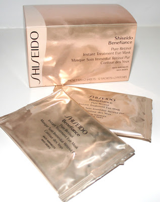 ShiseidoPureRetinol Shiseido Benefiance Pure Retinol Instant Treatment Eye Mask