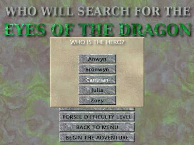 Eyes of the Dragon - Character Generator with Pop Up Screen