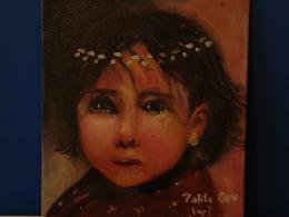 niña mapuche   (óleo)
