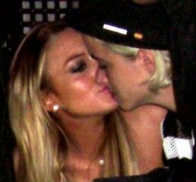 Lindsay Lohan and Samantha Ronson kissing in Cannes