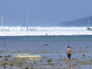 The tsunami in Thailand