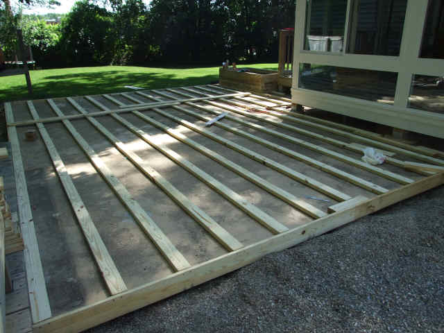Guest Blogger: How To Build A Deck Over A Patio Part 2