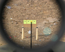 Even in bright daylight, the aiming point of the Trijicon AccuPoint scope is lit up by fiber-optics