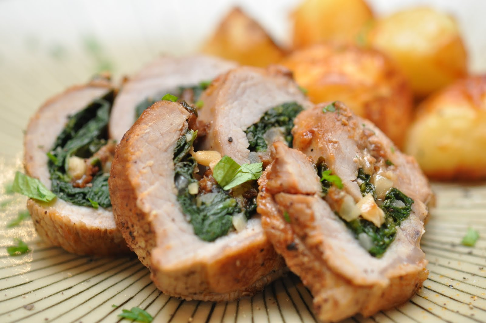The Recipe Diva: Spinach Stuffed Veal Rolls