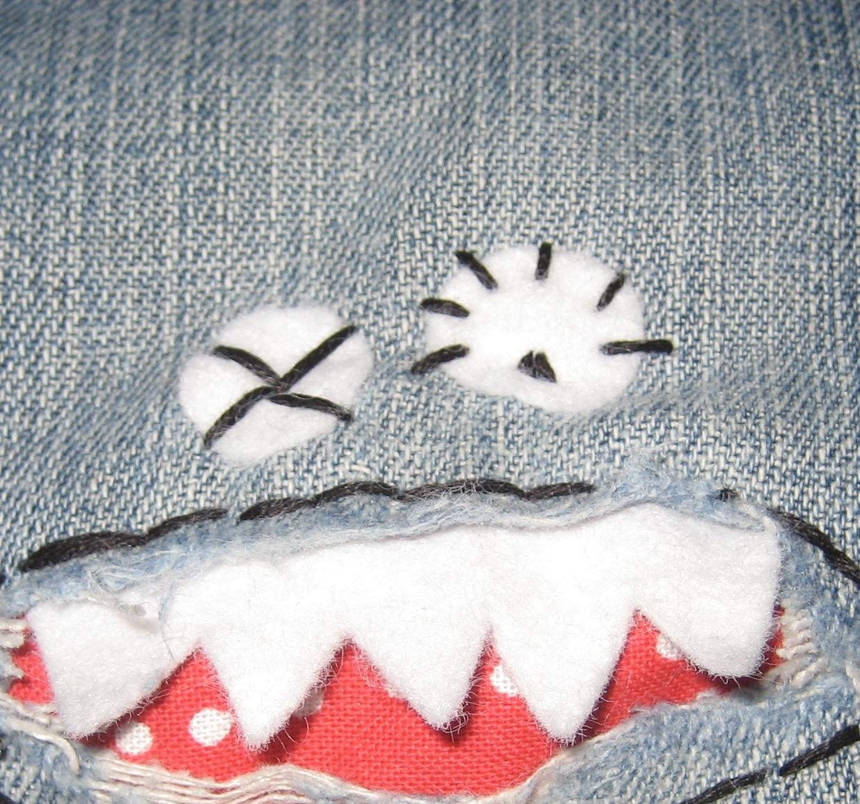 Как сделать заплатки на джинсах на коленях у детей