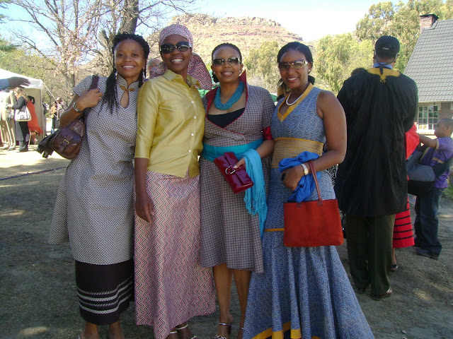 ... modernised versions of the traditional Basotho clothes (Seshoeshoe