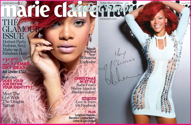 rihanna covers marie claire 39 s uk edition media crumbs. Black Bedroom Furniture Sets. Home Design Ideas
