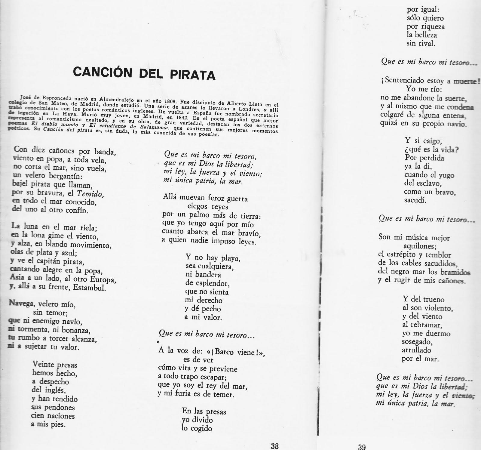 letra de cancion pirata de boquita: