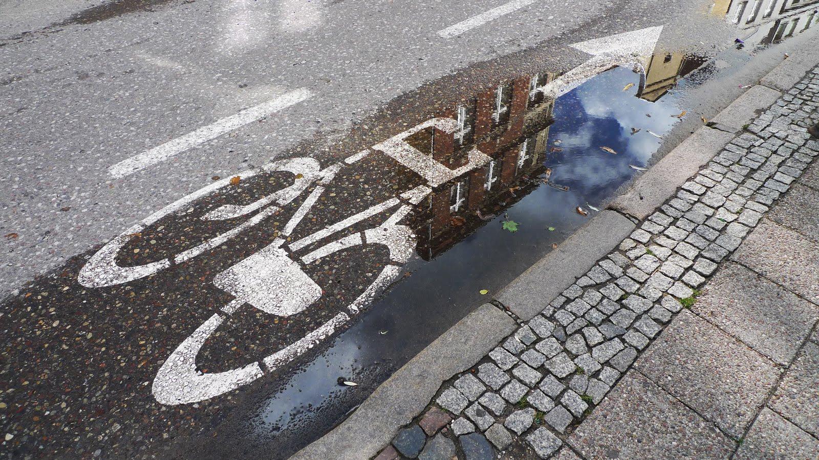 ścieżka rowerowa gdańsk kałuża