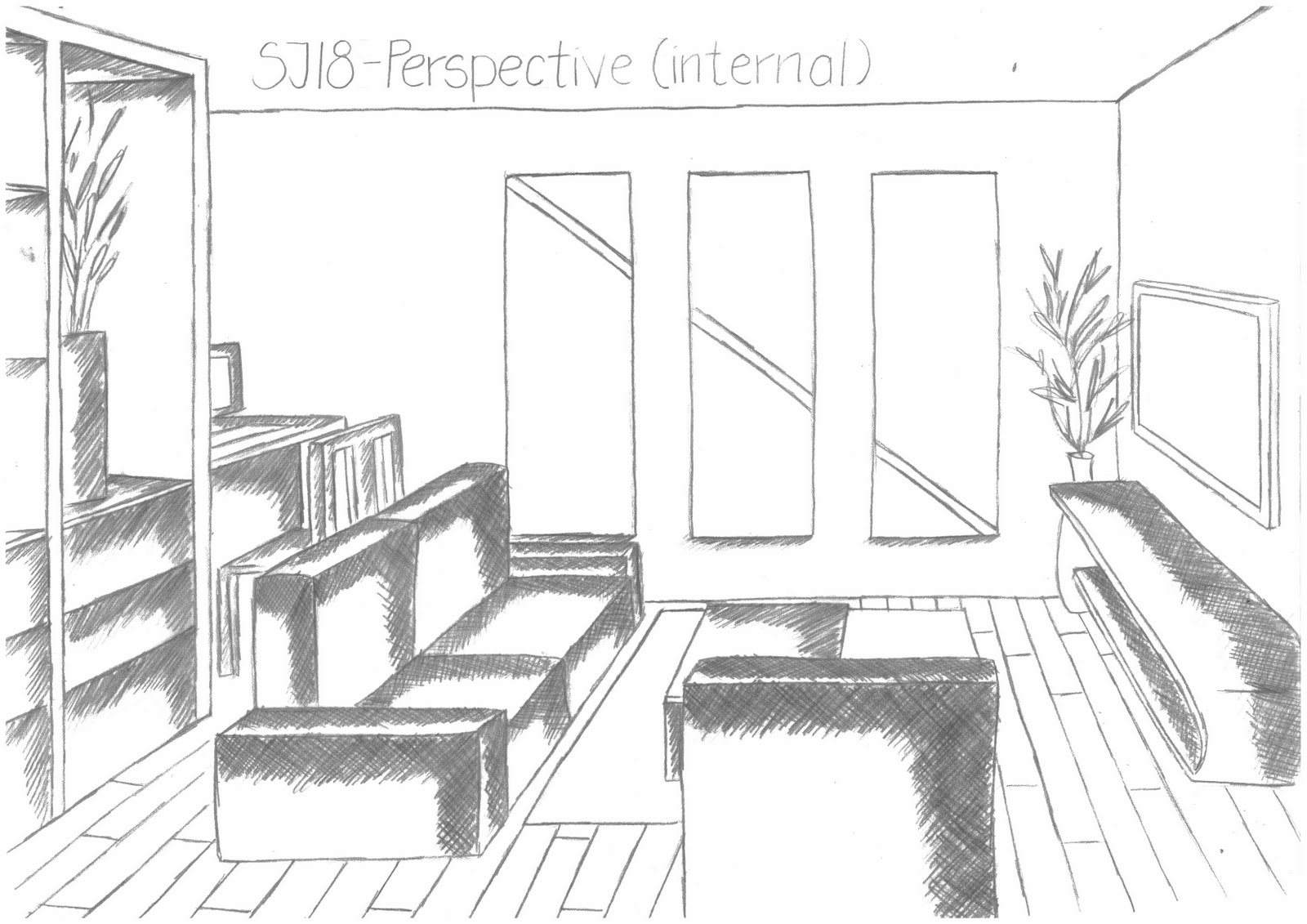 No idea sj 18 for Living room 2 point perspective