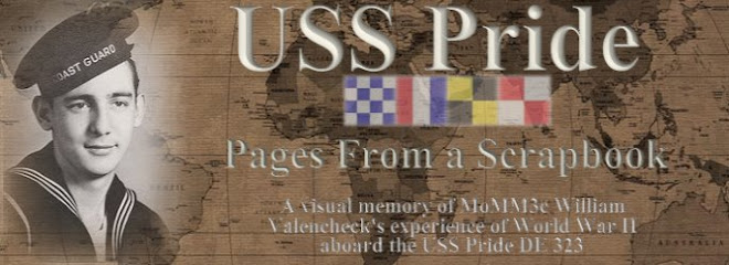 USS PRIDE DE 323 - PAGES FROM A SCRAPBOOK
