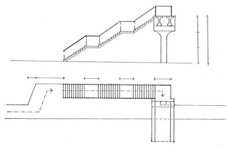 """Denah tangga berbentuk huruf """"L"""""""