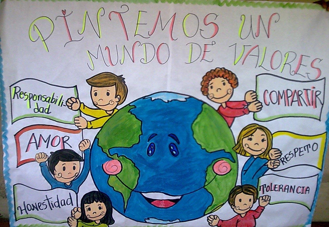 proyecto de aprendizaje pintemos un mundo de valores