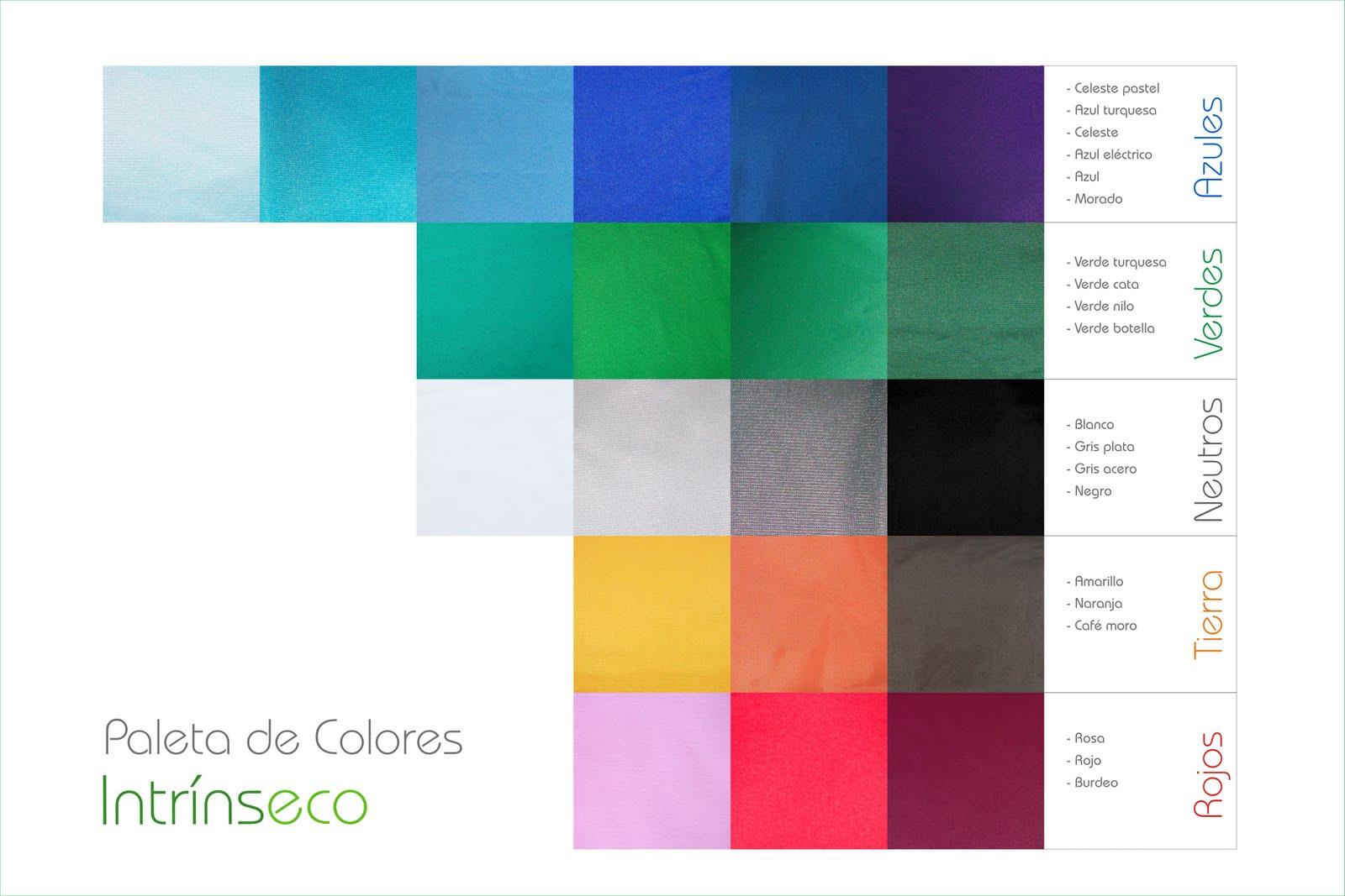 Intr nseco paleta de colores colecci n mosaico textil - Paleta de colores titanlux ...