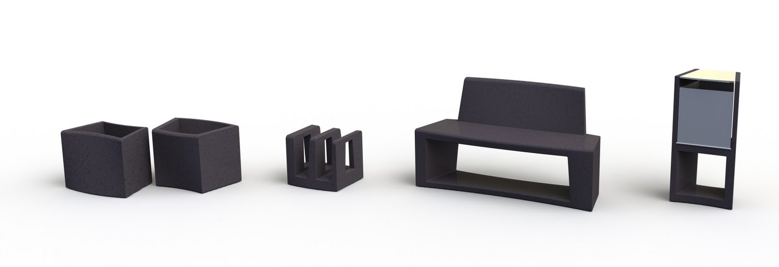 Modular urban furniture klaudia micz n silicate designer Urban home furniture online