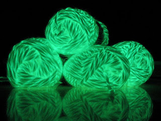Bernat Glow in the Dark yarn