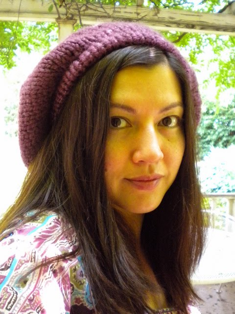 Puff Stitch Crochet Beret with Bow - Crochet Me