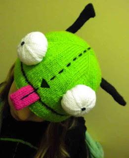Invader Zim GIR Knit Hat